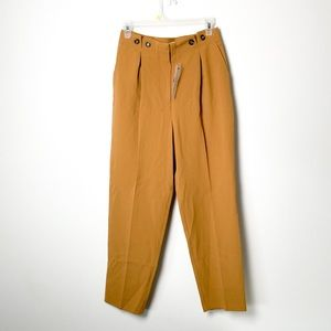 NWT Topshop Tan High Waisted Tapered Trousers